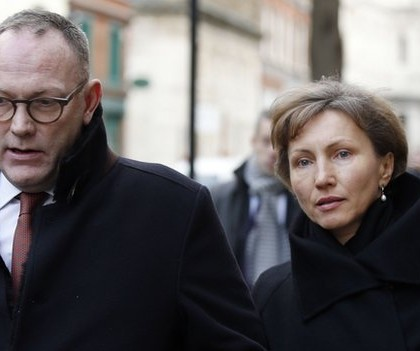 Ben Emmerson QC and Marina Litvinenko arriving at the inquiry