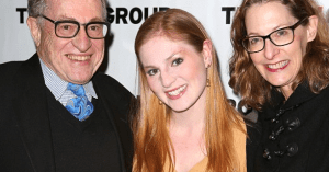 Alan Dershowitz with his wife and daughter