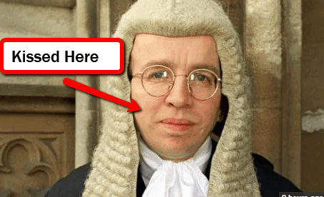 Mugged Judge Kissed on Cheek by Mugger