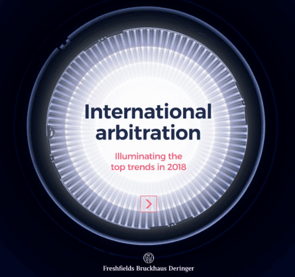 International Arbitration: the top trends in 2018 1