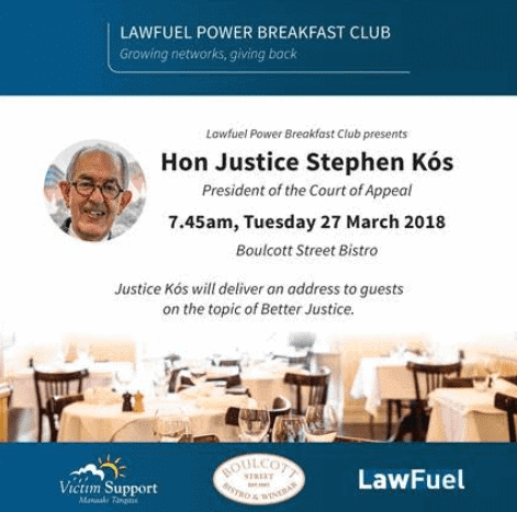"LawFuel Power Breakfast - Hear Justice Kos Speak on ""Better Justice"" 2"