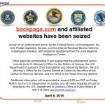 Sex Trafficking Site Backpage.com Site Seized by Justice Department in 93 Page Indictment