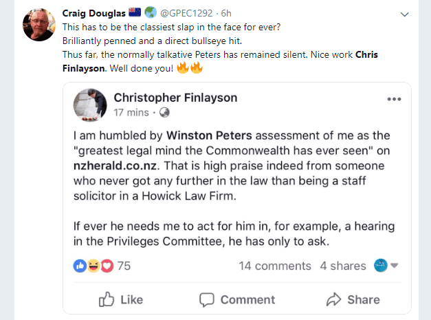 Christopher Finlayson's 'Classy' Retreat From Politics 1