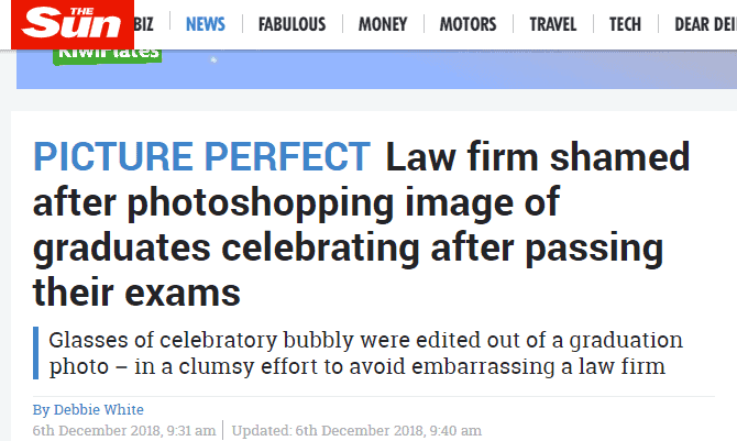 4 Social Media Mistakes Made in Law Firm's Champagne Photoshop Fail 5