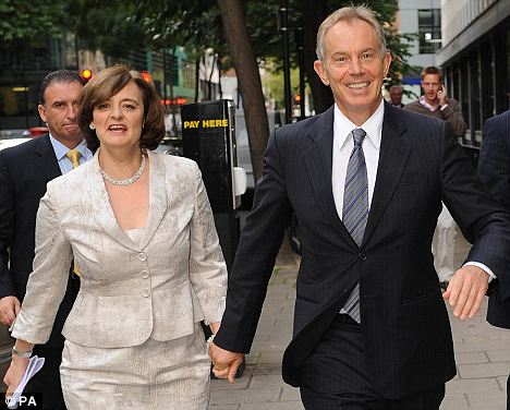 cherie blair is doing well, thank you.