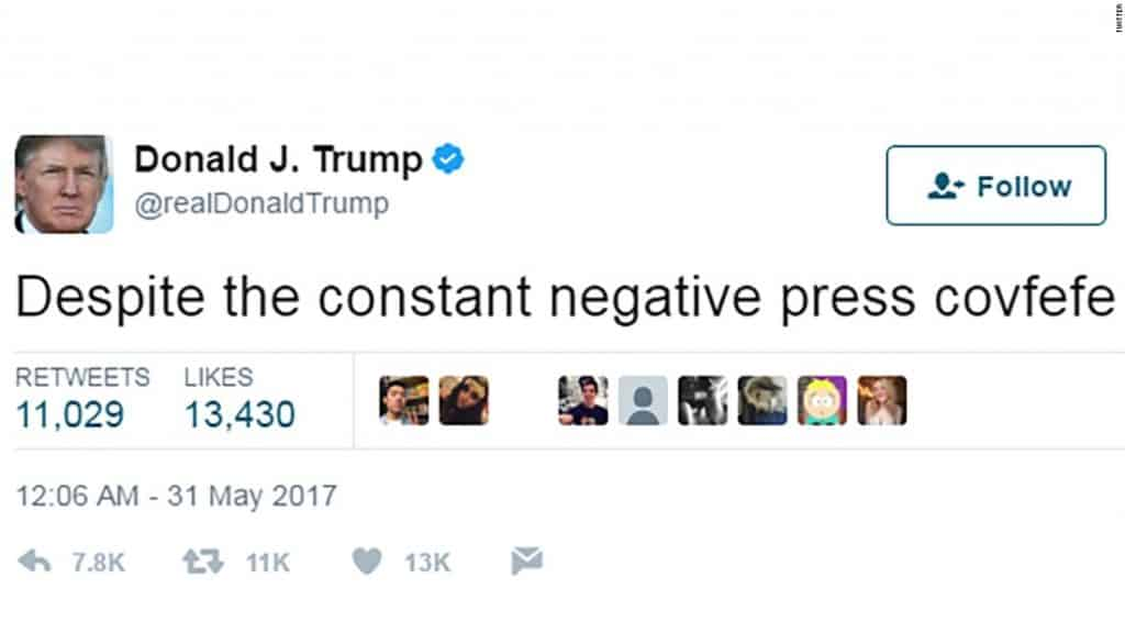 """""""Covfefe"""" - The Correct Meaning is Obvious 1"""