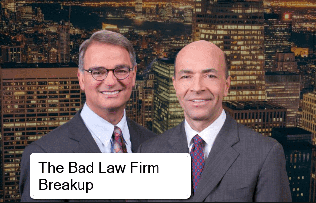 Breaking Up Is Hard to Do: 5 Rules For Breaking Up a Law Firm Partnership & The Partner Who Wants to 'Burn the Firm to the Ground' 1