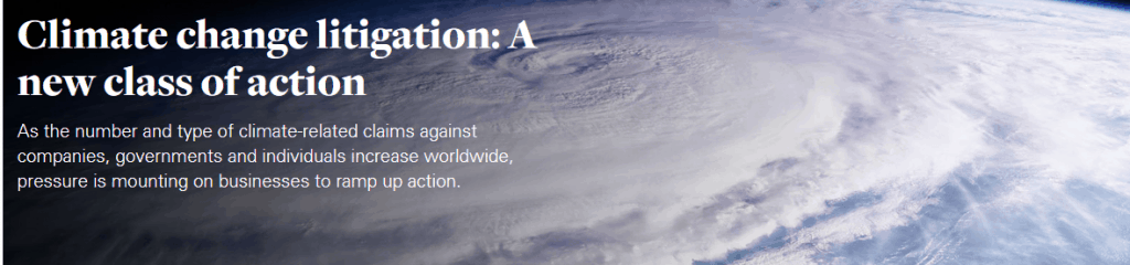 The Growth of 'Climate Change Litigation' 5