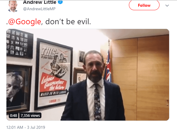 """Justice Minister's """"Don't Be Evil"""" Warning to Google 2"""
