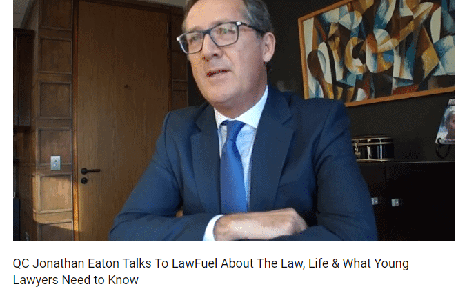 Jonathan Eaton QC on The Law, Universities, The Media . . And His Unlucky Suit 3