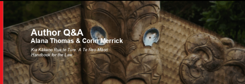 te reo Maori for Legal Profession:  Handbook for the Law 1