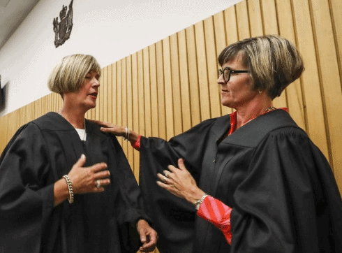 New 'Twin' Judges Make History With Double Swearing-In 1