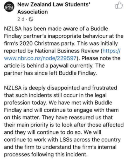 Buddle Findlay's #MeToo Moment - Concern Over Claim of Big Law Partner's Inappropriate Conduct 5