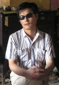 """Like many of China's blind, Chen Guangcheng studied acupressure to be a healer. Instead he ended up in jail. Self-taught in law, Chen has become one of China's most prominent legal crusaders - what the Chinese call a """"barefoot lawyer"""" - who has made waves in Beijing by helping poor farmers in the cornfields of eastern China. 2"""