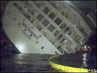 The Greek cruise ship sinking, where the vessel sunk after hitting a well-marked reef, has resulted in neglience charges against the captain and five officers. 2