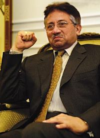 The Pakistani leader, Gen. Pervez Musharraf, declared a state of emergency on Saturday night, suspending the country's Constitution, firing the chief justice of the Supreme Court and filling the streets of the capital with police officers. 2