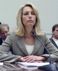 """Valerie Plame, the CIA officer whose leaked identity triggered a federal investigation that reached into the White House, today publicly refuted claims that she was not a covert employee and accused the White House and State Department of """"carelessly and recklessly"""" destroying her cover for political purposes. 2"""